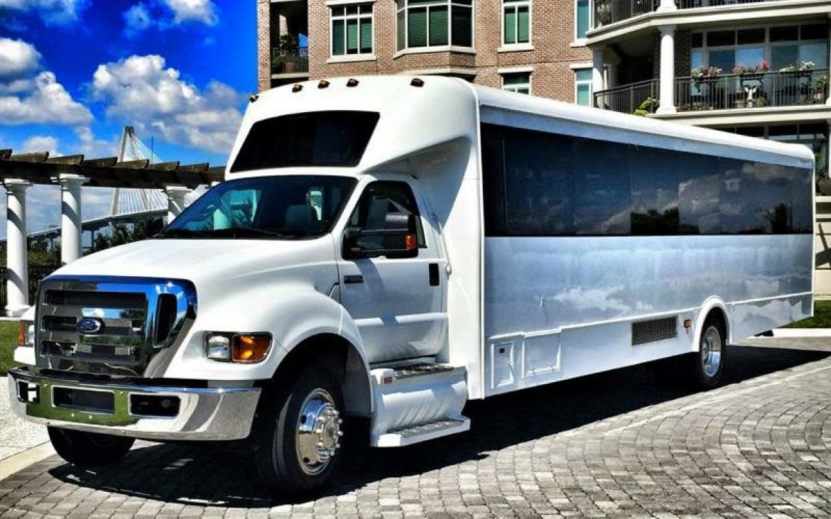 Shuttle bus for sale 2015 ford f650 40 by lge coachworks