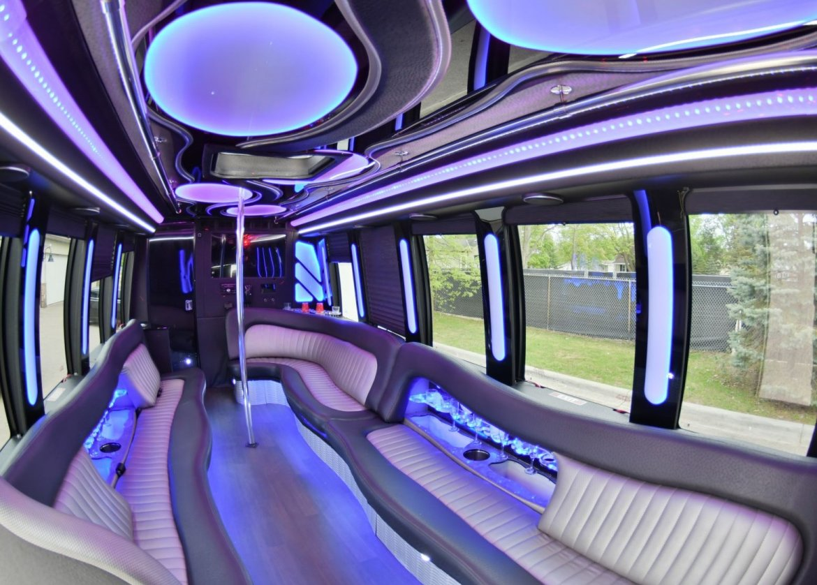 Limo Bus for sale: 2014 Ford E-450 by Newport Coachworks / Moonlight