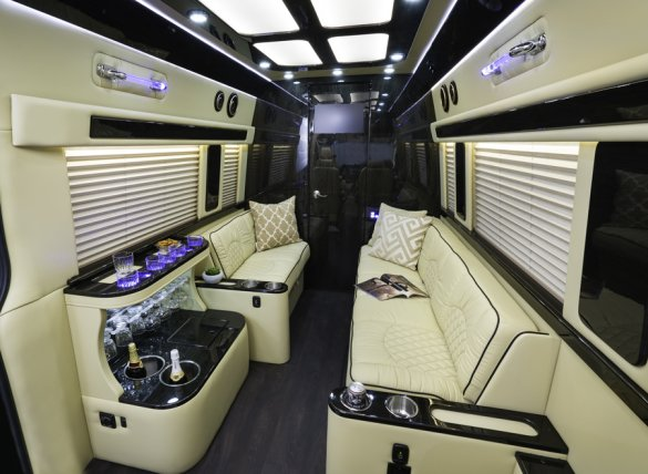 mercedes benz   dual ext sprinter ht  turbo diesel   sell limos