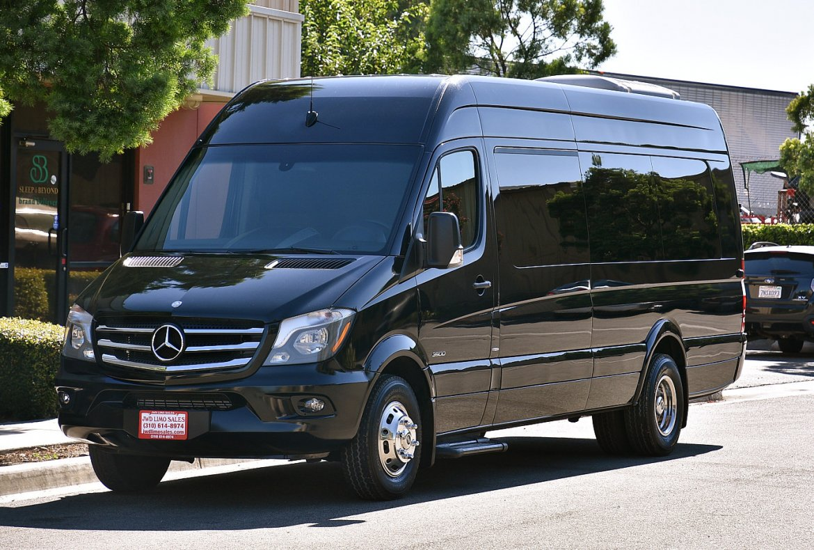 2014 Tiffany Mercedes Benz Sprinter 3500 Limousine Van on jack ceiling for cars